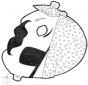 Disegno da bucherellare - maschera 13