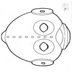 Disegni da bucherellare - Disegno da bucherellare - maschera 14