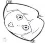 Disegno da bucherellare - maschera 16