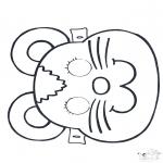 Disegni da bucherellare - Disegno da bucherellare - maschera 2