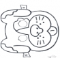 Disegno da bucherellare - maschera 3