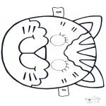 Disegni da bucherellare - Disegno da bucherellare - maschera 4