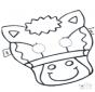 Disegno da bucherellare - maschera 5