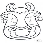 Disegni da bucherellare - Disegno da bucherellare - maschera 6