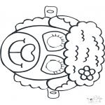 Disegni da bucherellare - Disegno da bucherellare - maschera 8
