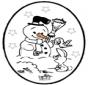 Disegno da bucherellare - Natale 25