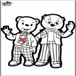 Disegni da bucherellare - Disegno da bucherellare - orso bruno