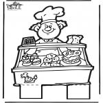 Disegni da bucherellare - Disegno da bucherellare panettiere