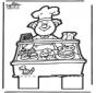 Disegno da bucherellare panettiere