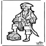 Disegni da bucherellare - Disegno da bucherellare pirata 2