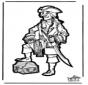Disegno da bucherellare pirata 2