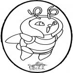Disegni da bucherellare - Disegno da bucherellare Pokemon 1