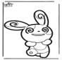 Disegno da bucherellare Pokemon 5