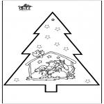 Disegni da colorare Natale - Disegno da bucherellare - Presepe 2