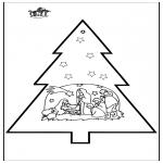 Disegni da colorare Natale - Disegno da bucherellare - Presepe 3