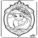 Disegni da bucherellare - Disegno da bucherellare Principessa Disney 1
