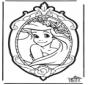 Disegno da bucherellare Principessa Disney 1