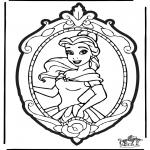 Disegni da bucherellare - Disegno da bucherellare Principessa Disney 2