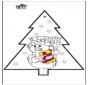Disegno da bucherellare - pupazzo di neve 2