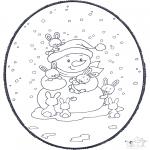 Disegni da bucherellare - Disegno da bucherellare - Pupazzo di neve
