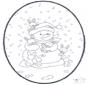 Disegno da bucherellare - Pupazzo di neve