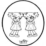 Disegni da bucherellare - Disegno da bucherellare - ragazza