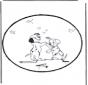 Disegno da bucherellare - San Valentino 1