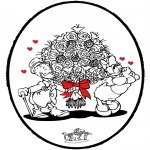 Disegni da colorare Temi - Disegno da bucherellare - San Valentino 3