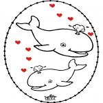 Disegni da colorare Temi - Disegno da bucherellare - San Valentino 4