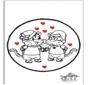 Disegno da bucherellare - San Valentino 5