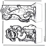 Disegni da bucherellare - Disegno da bucherellare - Sesame street