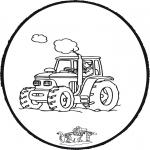 Disegni da bucherellare - Disegno da bucherellare trattore