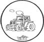 Disegno da bucherellare trattore