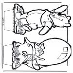 Disegni da bucherellare - Disegno da bucherellare - Winnie the Pooh 5