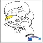 Disegni da colorare Temi - Disegno da colorare - bambino 2