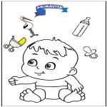 Disegni da colorare Temi - Disegno da colorare - bambino 3