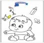Disegno da colorare - bambino 3