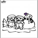 Disegni da colorare Inverno - Disegno da colorare pupazzo di neve 2