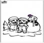 Disegno da colorare pupazzo di neve 2