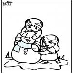 Disegni da colorare Inverno - Disegno da colorare pupazzo di neve 3