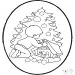 Disegni da bucherellare - Disegno da ricamare ' albero di Natale