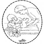 Disegni da colorare Temi - Disegno da ricamare - bebè 1