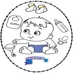 Disegni da colorare Temi - Disegno da ricamare - bebè 2