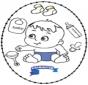 Disegno da ricamare - bebè 2