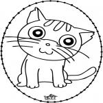 Lavori manuali Disegni da ricamare - Disegno da ricamare - gatto