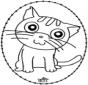 Disegno da ricamare - gatto