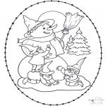 Disegni da colorare Natale - Disegno da ricamare Natale 11