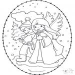 Disegni da colorare Natale - Disegno da ricamare Natale 12