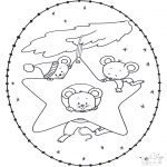 Disegni da colorare Natale - Disegno da ricamare Natale 15