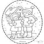 Disegni da colorare Natale - Disegno da ricamare Natale 16